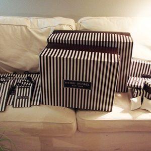 HENRI BENDEL GIFT BOXES & GIFT BAGS LOT